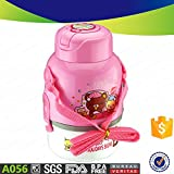 promotional gift plastic kid water bottle and lunch or snacks box set Lunch or snacks Box with Sipper Bottle, (800 -1000 ml , Bpa free) (pink)