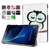 Galaxy Tab A6 10.1 Hülle, PU Ledertasche Flip Case Smart Cover und Back Hülle für Samsung Galaxy Tab A (2016) SM-T580N/T585N 25,54 cm (10,1 Zoll) Tasche Leder Skin Schutzhülle mit Standfunktion