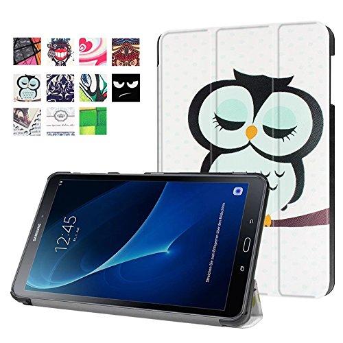 Galaxy Tab A6 10.1 Hülle, PU Ledertasche Flip Case Smart Cover & Back Hülle für Samsung Galaxy Tab A (2016) SM-T580N/T585N 25,54 cm (10,1 Zoll) Tasche Leder Skin Schutzhülle mit Standfunktion (EULE)