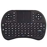 seguryy Mini i8Wireless–Mini Tastatur Französische ergonomisch, kabellos, mit Touchpad–Für Smart TV, Mini PC, HTPC, Konsole, Computer (schwarz)