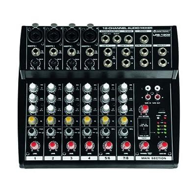 Live-Recording Mixer PA DJ disco mixer with 12 inputs OMNITRONIC LRS-1202