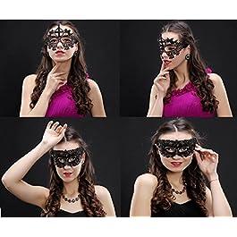 Amaza 15pcs Mascherina Sexy Pizzo Maschere Veneziane Donna Carnevale