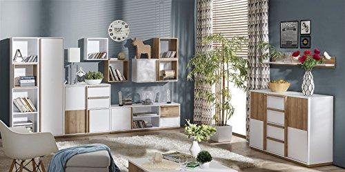 Wohnzimmer Komplett - Set J Lefua, 11-teilig, Farbe: Weiß ...