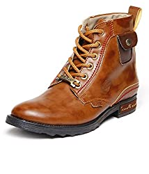 BACCA BUCCI MEN TAN PU BOOTS O8 UK