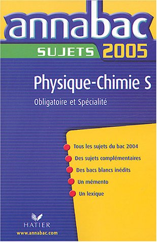 Physique-Chimie S : Sujets