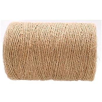 Jute Twine String,656 Feet 2 Ply Durable Packing Hemp Rope Crafts Twine(1 mm)