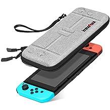 Tasche für Nintendo Switch – innoAura Tragbares Hartschale Slim Travel Tragetasche passend zur Switch Konsole & 8 Game Steckmodule