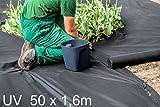 Reißfestes Unkrautvlies Gartenvlies Unkrautschutzvlies 48m², Stärke: 50g/m² ( UV Stabilisierung Krönig ) Proven, Empfohlen, Rindenmulch, Pflanzenvlies
