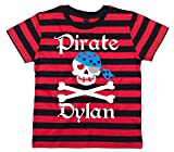 Search : Edward Sinclair Personalised Pirate Skull and Cross Bones Striped T-Shirt