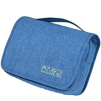 Smart Nice Portátiles colgante del recorrido Wash Bolsas, plegable bolso de la colada Pequeño bolso cosmético para acampar durante la noche, a prueba de agua (azul cielo)