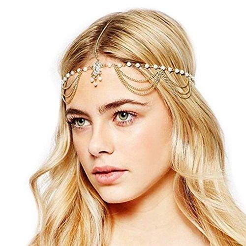 Yean Damen-Kopfschmuck, Stirnband, Boheme-Style, Kopfkette mit Anhänger