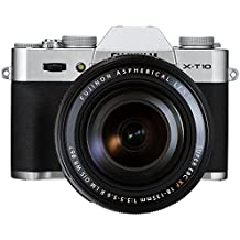 "Fujifilm X-T10 - Cámara EVIL de 16 MP (pantalla de 3"", LCD, 1080 p FHD, CMOS II) negro y plata - kit cuerpo con objetivo Fujinon XF 18 - 135 mm f/3.5 - 5.6 R WR"