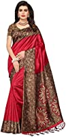 Mrinalika Fashion Women's Art Silk Saree With Blouse Piece (Srja006_Red)