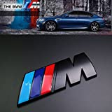 BMW M Power Quality metal sticker nero Emblema Decal Boot badge m3 M4 M5