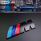 BMW M Power Quality metal sticker nero Emblema Decal Boot badge m3M4M5