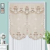 EQEQ Silk Road Dekorativen Vorhang Stickerei Vorhang, Partition Japanische Gewebe Schürzen für Badezimmer Schlafzimmer Küche Spitze Raffrollos - Khaki 33