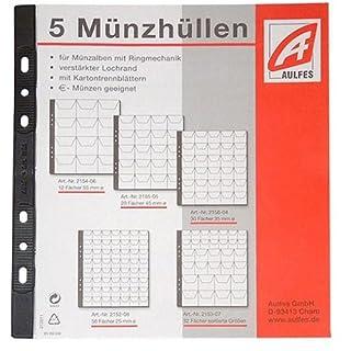 Pagna Münzhüllen (12 Fächer, Münzen bis zu Ø 55 mm) transparent