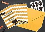 """6 Halloween Einladungskarten und 6 Briefumschläge Serie """"Cat & Bat"""""""