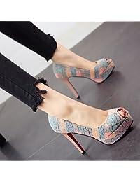 YMFIE In stile europeo è semplice elegante e sottile con forte temperamento sexy tacco alto scarpe donna scarpe da lavoro,34 UE,c
