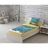 COTTON ART. Saco nórdico CON relleno SUMMER LIFE para cama 90 x 190/200 + 1 funda de almohada. Saco unido a la bajera con cremallera. Con relleno nórdico.