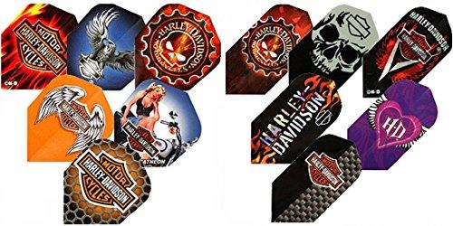 Harley Davidson Dart Wings Dartflights Flys, 3 Stück