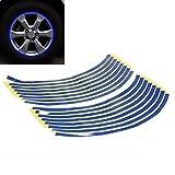 QEUhang Blau Reflektierende Felgenrand Felgen Aufkleber Motorrad Auto Felgenrandaufkleber Felgenaufkleber Felgen Ringe Band