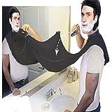 Barba de la barba,ANGTUO El afeitar con las tazas de la succión La barba cortó la colección de la bufanda de la barba del delantal Herramientas que styling para mantener el cuarto de baño limpio,negro
