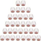 32 Piedini di Silicone, per Mobili, Sedie, Tavoli. Gommini per Proteggere I pavimenti da Graffi, per Mobili Con Piedi Rotondi, 25-29MM(0.984''-1.142'')