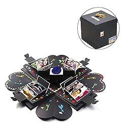 """Überraschungsbox Material: beschichtetes Papier Es kann Fotos setzen, kann 5 Zoll 12-24 Blätter, 3 Zoll Fotos, 36-50 Blätter DY Explosion Box Size - Offen: 18,7 """"x 18,7"""", Falte: 6,9 """"x 6,9"""" x 6,9 """"In eine kleine Geschenkbox können Sie einen ..."""