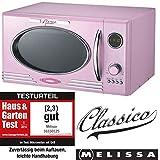 Melissa 16330103 Retro - Microondas con grill (900 W, 25 L) Pink Rosa
