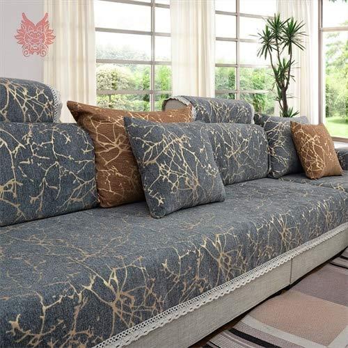 FIOLTY Europ Cielo Raya UARD sofá-Cama chenle Hoja de la Cubierta para la  habitación lig sección de Muebles sofá SP4906: Gris por pic, 90cm240cm