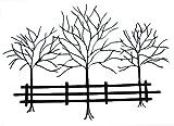 groß METALL WANDKUNST - bäume im Winter 118 cm breit