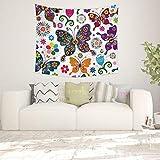 jtxqe Papillon série Salon Chambre Tapisserie Fond Tissu décoration de la Maison 25 200 * 150