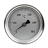 Lantelme 6941 Einbauthermometer 500 Grad Durchmesse 80mm x 150mm für Grill, Pizza Oder Backofen