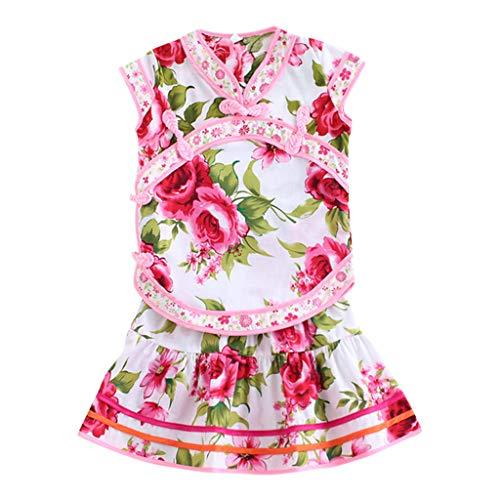 nd weiblich Baby süß lässig bequem atmungsaktiv floral Cheongsam Prinzessin + Kleid Sommer 2019 neu ()