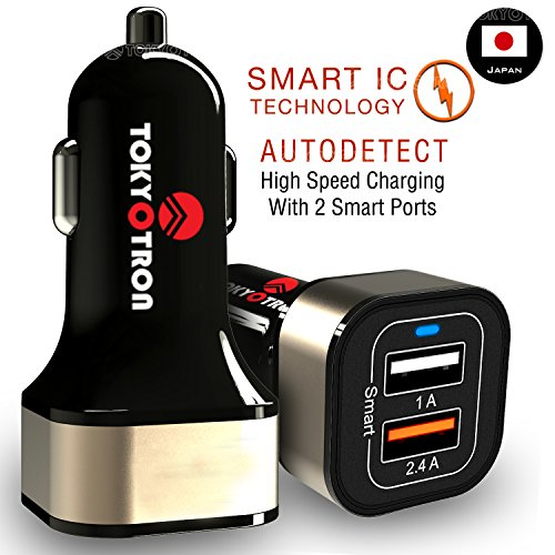 Tokyotron IGH00062 3.1A Dual Port USB Car Charger