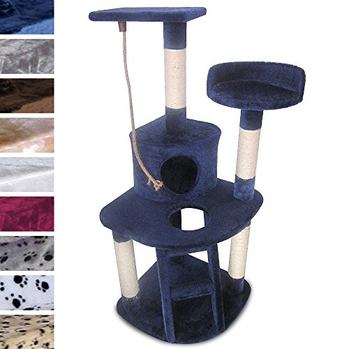Leopet-Cat-Tree-Scratching-Post-Kitten-Climbing-Excercise-Activity-Centre-Cat-Playing-Furniture-Sisal-Height-ca-120-cm