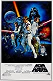 Star Wars Rétro Sci-Fi Affiche Du Film 1 . Différentes Tailles - Taille A4 21 x 29 cms
