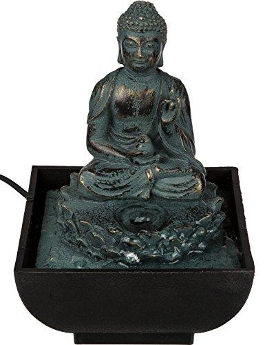 Habitaciones Brunnen mesa Brunnen » Buda sentado « poliresina aprox. 17· 14cm 3