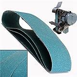 Juego de accesorios para herramientas precisas Correas de lijado, 3pcs 915X100mm 120 Grit lijado abrasivo correas de metal Lijado Cinturones