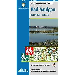 51STbg5dzLL. SS300  - Bad Saulgau, Bad Buchau Federsee: Karte des Schwäbischen Albvereins (Freizeitkarten 1:50000)