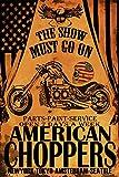 Postereck - Poster 1973 - American Choppers Plakat, Motorrad Bike Retro NY USA Größe DIN - A4-21.0 cm x 29.7 cm