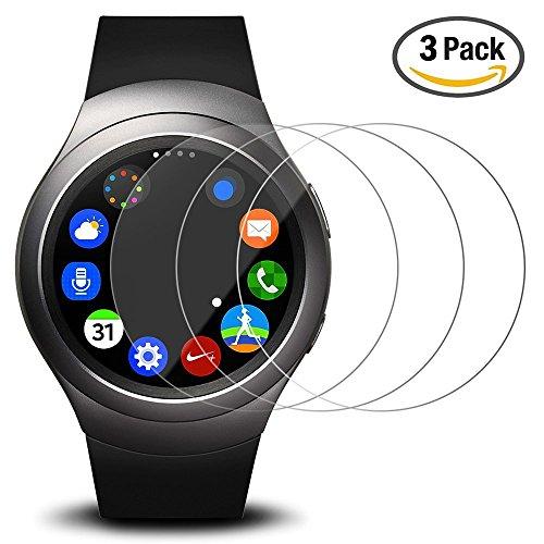 Pellicola Protettiva per Samsung Galaxy Gear S2, AFUNTA 3 Pack Pellicola in Vetro Temperato Protezione di Schermo Anti-graffio...