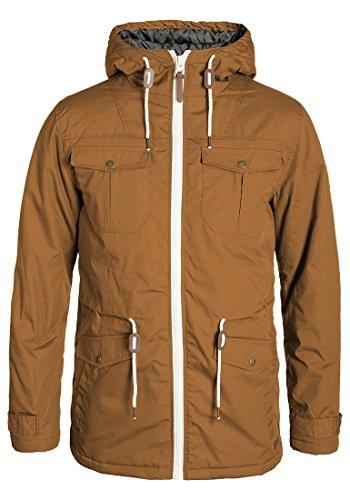 !Solid Tilas Herren Übergangsjacke Parka Mantel Lange Jacke Mit Kapuze, Größe:XL, Farbe:Cinnamon (5056)