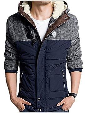 MHGAO Nueva pato blanco abajo del abrigo de invierno chaqueta de cuello de los hombres ocasionales , blue , xl