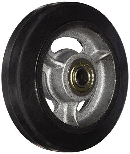 Wesco 108839 6 Diameter Cast Iron Center Moldon Rubber Wheel, 400-lb. Capacity, 1-1/2 Tread Width, 5/8 Bore, 2 Hub Diameter by Wesco (Cast Hub)