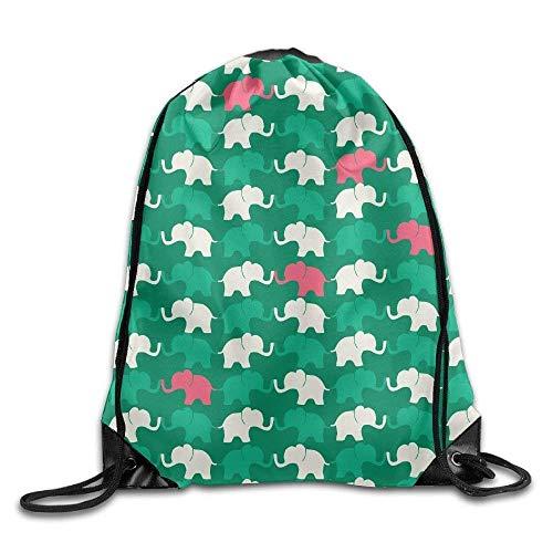 Needyo Rucksack mit Kordelzug Cute Baby Elephant Gym Drawstring Backpack Unisex Portable Sack Bags (Baby Taschen Kenneth Cole)