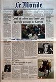 MONDE (LE) [No 2966] du 10/09/2005 - VICTOIRE ATTENDUE DE HOSNI MOUBARAK EN EGYPTE COTE D'IVOIRE - ENCORE UNE TENTATIVE DE MEDIATION SANS ISSUE LE PLAN DE VILLEPIN DONNE LA PRIORITE A LA PRIME POUR L'EMPLOI LE GOUVERNEMENT FRAN-½AIS VEUT PROTEGER SON ECONOMIE JACQUES CHIRAC HOSPITALISE POUR UN PETIT ACCIDENT VASCULAIRE DEUIL ET COLERE AUX ETATS-UNIS APRES LE PASSAGE DE KATRINA INCENDIES EN SERIE DANS DES IMMEUBLES PARISIENS ACCORD DANS LE TEXTILE ENTRE PEKIN ET BRUXELLES PENURIE DE PR