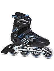 Fila Hombre Inline Skate reptix 84, Negro/Azul, 42, 010616240
