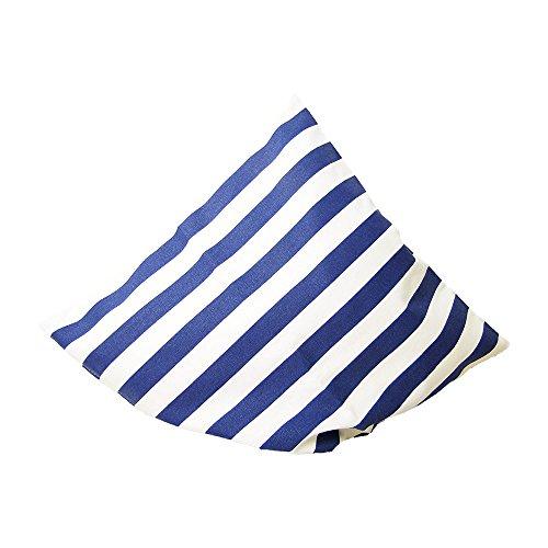 Deko Kissen 40x40 cm - gestreift St. Tropez - maritimes Kissen, Kissen maritim, Bootskissen, Gartenkissen, Stuhlkissen, Sofakissen (Blau)
